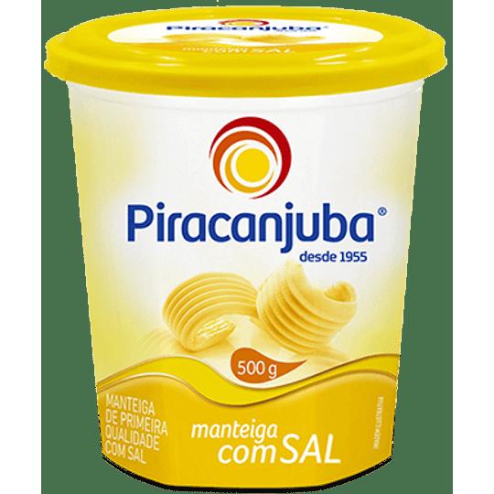 MANTEIGA COM SAL PIRACANJUBA PT 500G