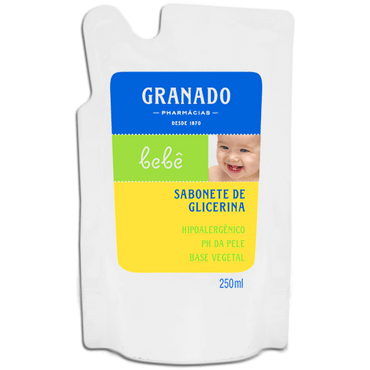 SABONETE LIQUIDO GRANADO BEBE TRADICIONAL REFIL 250ML