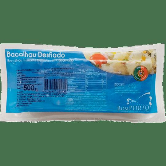 BACALHAU CONGELADO BOM PORTO DESFIADO PACOTE