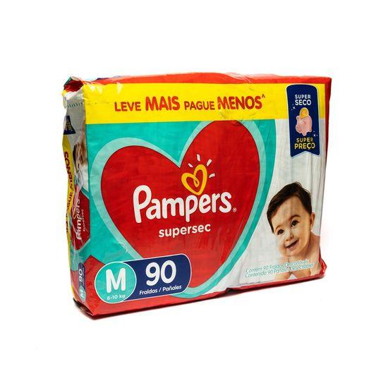 FRALDA SUPERSEC PAMPERS JUMBO M 90UN