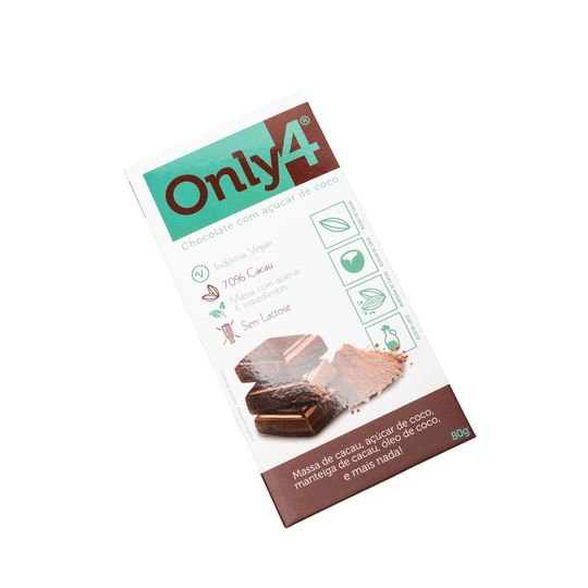 CHOCOLATE ONLY4 70%CACAU PURO 80G