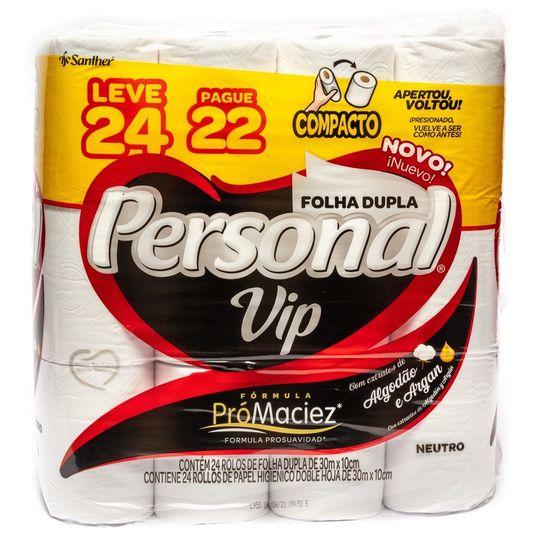 PAPEL HIGIENICO PERSONAL VIP NEUTRO PROM L24 P22
