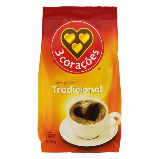 CAFE 3 CORAÇOES TRADICIONAL 500G