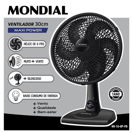 VENT 30CM NV-15-6P-FB MONDIAL 220V